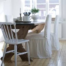 Henriksdal Chair Cover Henriksdal Chair Cover Loose Fit With Frills Rosendal Linen Soft