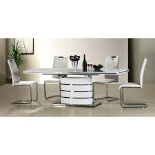 High Gloss Extending Dining Table Adpoler Deco Interior Design