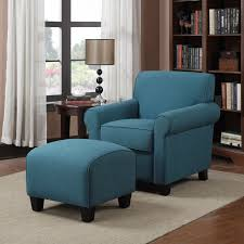 Best  Chair And Ottoman Ideas On Pinterest Pottery Barn - Blue living room chairs