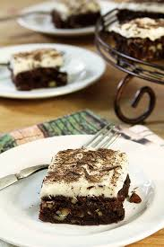 chocolate chip brownies with cream cheese frosting creative culinary