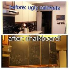 Chalkboard Contact Paper On A Kitchen Cabinet Sadie Stuff - Contact paper for kitchen cabinets
