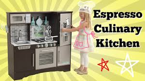 new kidkraft culinary play kitchen espresso imaginative play
