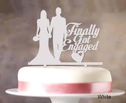 k cake topper finally got engaged wedding cake topper mirror cake topper cake