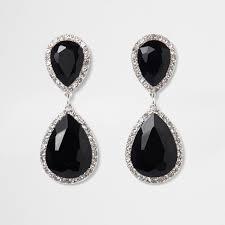 black earrings black teardrop drop earrings earrings jewellery women
