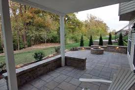 Patio And Firepit Brick Patio And Firepit Tri County Hardscape