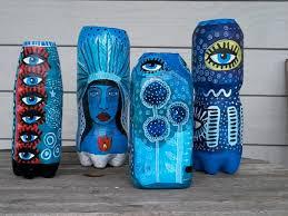Diy Plastic Bottle Vase Recycled Plastic Bottle U0026 Papier Mache Art Vase Tutorial