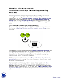 Meeting Minutes Notes Template by Meeting Minutes Sample Effective Business Communication Lecture