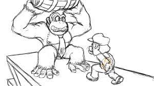 donkey kong coloring pages mario bros donkey kong coloring page