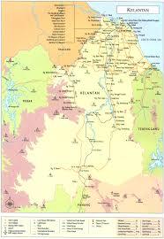 Map Of Malaysia Map State Of Kelantan Malaysia Wonderful Malaysia
