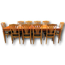 ethan allen dining table w 10 chairs upscale consignment ethan allen dining table w10 chairs 76238a jpg