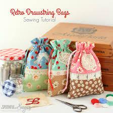 retro drawstring bag diy pinterest retro bag and sewing