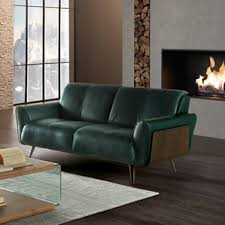 Leather Loveseats Modern Leather Loveseats Allmodern