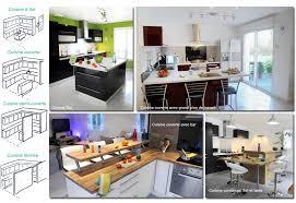 plan de maison avec cuisine ouverte agréable modele de cuisine americaine 2 besoin dinspiration