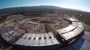 latest apple campus 2 drone flyover shows the spaceship taking off