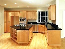 light wood kitchen cabinets with black countertops newly maple kitchen cabinets with black appliances pictures