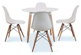 eiffel designer dining set 4 chairs and 90cms small round table