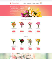 flowers store flowers opencart template