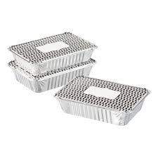 2 lb black trellis foil baking pan with lid the container store