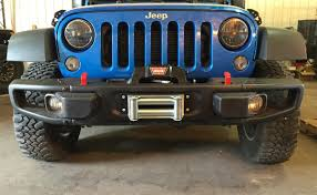 jeep front bumper rock hard 4x4 u0026 8482 patriot series winch plate for 10a hard rock