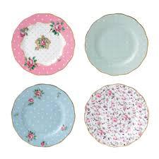 royal albert tea vintage mix set of 4 plates 16cm royal