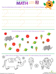 preschool math all about the number 2 worksheet education com