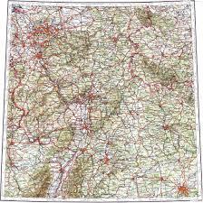 stuttgart on map download topographic map in area of essen stuttgart frankfurt am