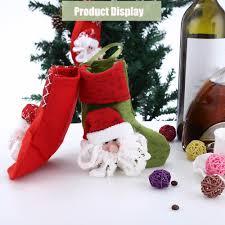 20pcs christmas stocking decoration hanging gift bag ornaments