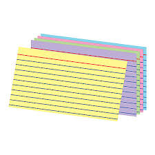 office depot brand ruled rainbow index cards 3 x 5 assorted colors