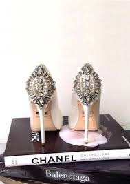 wedding shoes jeweled heels of gorgeous jeweled wedding shoes to get inspired 14