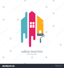house painting services house painting service decor repair multicolor stock vector