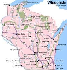 wisconsin map usa wisconsin map