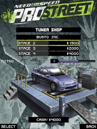 need for speed prostreet 2d 320x240 s60 jar need for speed