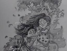 drawing of radha krishna easy drawing learn to draw youtube