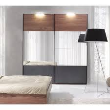 armoire pour chambre à coucher armoire renato 2 portes coulissantes avec miroirs garde robe pour