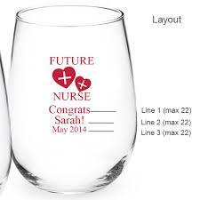 graduation wine glasses graduation personalized 15 oz stemless wine glass personalized