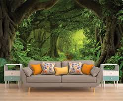 peel and stick vinyl wallpaper forest vinyl wallpaper wallpaper removable wallpaper peel
