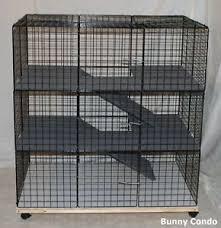 Indoor Hutch Large Rabbit Bunny Condo Cage Handmade Indoor Pen Home Hutch