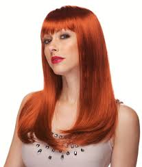 Kevin Paves Hair Extensions by Red Hair Wig With Bangs Wigs By Unique