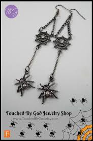 earrings gothic halloween spider and web halloween costume