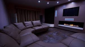 home cinema with fireplace u2013 finite solutions