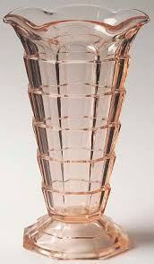 Pink Depression Glass Vase Indiana Glass Tea Room Pink At Replacements Ltd
