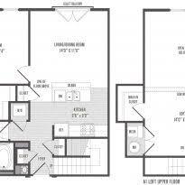 Loft Apartment Floor Plan One Bedroom Efficiency Apartment Plans Garage With Loft Floor