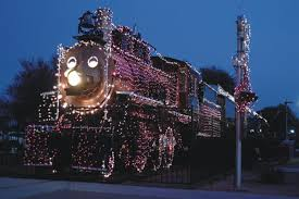 christmas lights train ride holiday lights at mccormick stillman railroad park