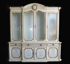 vintage karges venetian style ornate gold gilt china cabinet hutch