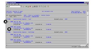 abap sample report on finance general ledger accounts list sap abap