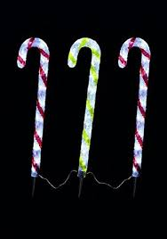 Outdoor Candy Cane Lights by Set Of 3 65cm Lit Candy Canes With 72 Led Lights Indoor Outdoor
