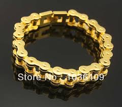 chain links bracelet images Gold 316l stainless steel motorcycle bicycle link chain bracelet jpg