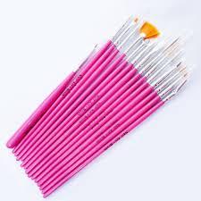 15pcs pink nail art tools paint dot draw pen brush set in nail