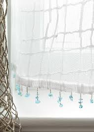 Heritage Lace Shower Curtains seacoast lace tiers with sea glass trim 24