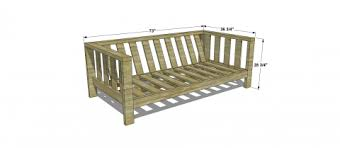 Build Wood Outdoor Furniture by 5 Diy Outdoor Sofas To Build For Your Deck Or Patio The